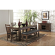 Homelegance Kirtland 6pc Dining Table Set in Warm Oak
