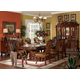 Acme Dresden 7 pc Pedestal Dining Table Set in Brown Cherry Oak