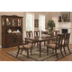 Coaster Addison 7 Piece Dining Set in Cherry Brown