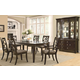 Coaster Meredith 7 Piece Rectangular Leg Dining Set in Espresso