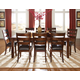 Standard Furniture Abaco 7-pc Rectangular Dining Table Set in Dark Tobacco Brown