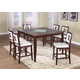 Acme Jasha 7-pc Counter Height Dining Set in Brown-White