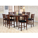 Acme Urbana 7-pc Counter Height Dining Table Set in Cherry