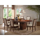 Acme Pacifica 7-pc Pedestal Dining Table in in Cherry