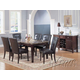 Acme Danville 7-pc Marble Top Rectangular Dining Table Set in Espresso