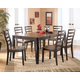 Alonzo 7-Piece Rectangular Butterfly Extension Dining Table Set in Brown