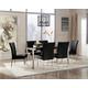 Baraga 7-Piece Rectangular Dining Table Set in Black