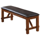 Acme Apollo Upholstered Dining Bench in Walnut 70004