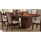 Acme Pacifica Pedestal Dining Table in in Cherry 70020