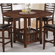 Acme Theodora Drop Leaf Counter Height Dining Table in Walnut 70030