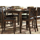 Homelegance Verona Counter Height Table in Distressed Amber 727-36