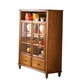 Liberty Furniture Low Country Curio Cabinet in Suntan Bronze Finish 76-CH4460