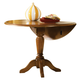 Liberty Furniture Low Country Drop Leaf Pedestal Table in Suntan Bronze Finish 76-T4242