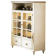 Liberty Furniture Low Country Curio Cabinet in Linen Sand with Suntan Bronze Finish 79-CH4460