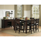 Homelegance Ameillia 7pc Rectangular Counter Height Table Set in Dark Oak