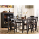 Homelegance Ohana 7pc Counter Height Table Set in Antique Black/Warm Cherry
