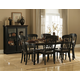 Homelegance Ohana 7pc Dining Table Set in Antique Black/Warm Cherry