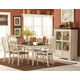 Homelegance Ohana 7pc Dining Table Set in Antique White/Warm Cherry