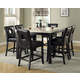 Homelegance Archstone 7pc Counter Height Table Set in Black