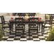 Aspenhome Young Classics 7pc Formal Dining Room Set in Cobblestone Black