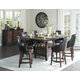 Homelegance Bayshore 7pc Counter Height Table Set in Medium Walnut