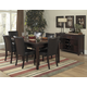 Homelegance Belvedere 7pc Extension Dining Table Set in Espresso
