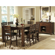 Homelegance Eagleville 7pc Counter Height Table Set in Warm Brown Cherry