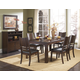 Homelegance Neely 7pc Dining Table Set in Dark Brown Cherry