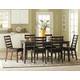 Homelegance Wilder 7pc Dining Table Set in Medium Brown