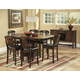 Homelegance Westwood 7pc Counter Height Table Set in Burnish Oak