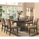 Coaster Myrtle 7pc Oval Dining Table Set