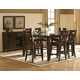 Homelegance Crown Point 7pc Counter Height Table Set in Merlot