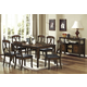 Homelegance Kinston 7pc Dining Table Set in Distressed Oak