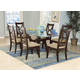 Homelegance Stardust 7pc Dining Table Set in Espresso