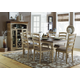 Homelegance Nash 7pc Dining Table Set in Oak