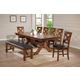 Acme Apollo 7PC Trestle Base Dining Room Set in Walnut