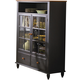 Liberty Furniture Low Country Curio Cabinet in Anchor Black with Suntan Bronze Finish 80-CH4460