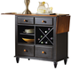 Liberty Furniture Low Country Server in Anchor Black with Suntan Bronze Finish 80-SR3636