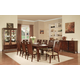 Acme Donovan 9 pc Rectangular Dining Table Set in Walnut