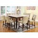 Acme Britney 9-pc Square Marble Top Counter Height Table Set