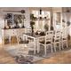 Whitesburg 9-Piece Rectangular Extension Dining Table Set in Brown - White