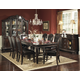 Homelegance Palace 9pc Dining Table Set in Rich Brown