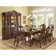 Homelegance Prenzo 9pc Dining Table Set in Warm Brown