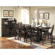 Homelegance Everett 9pc Counter Height Table Set in Cherry