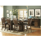Homelegance Everett 9pc Counter Height Table Set in Medium Oak