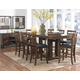 Homelegance Kirtland 9pc Counter Height Table Set in Warm Oak