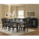 Homelegance Inglewood 9pc Dining Table Set in Espresso