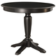 American Drew Camden Bar Height Pedestal Table in Black
