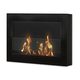 Anywhere Fireplace Soho Black Wall Mount Fireplace in Satin Black Paint