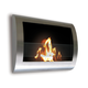 Anywhere Fireplace Chelsea Wall Mount Fireplace in Stainless Steel